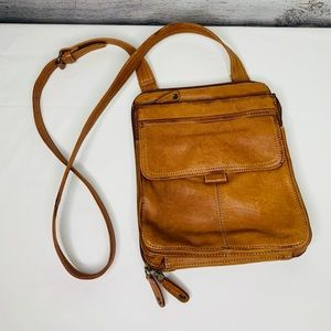 Fossil Crossbody Leather Messenger Bag